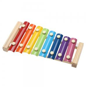 Children's Wisdom Toys Wooden Steel Piano Early Teaching Musical Instruments -