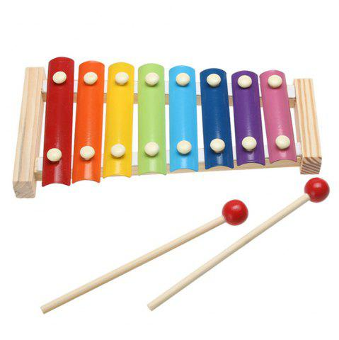 Latest Children's Wisdom Toys Wooden Steel Piano Early Teaching Musical Instruments