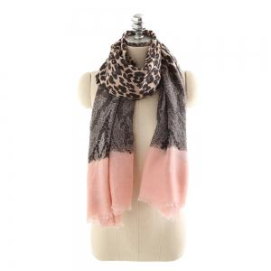 Leopard Pattern Cotton and Linen Scarf -