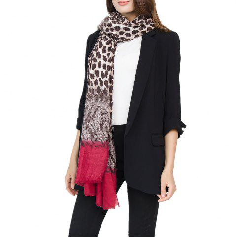 Discount Leopard Pattern Cotton and Linen Scarf