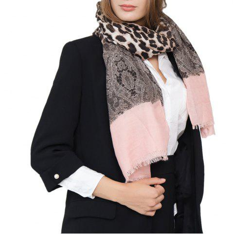 Trendy Leopard Pattern Cotton and Linen Scarf
