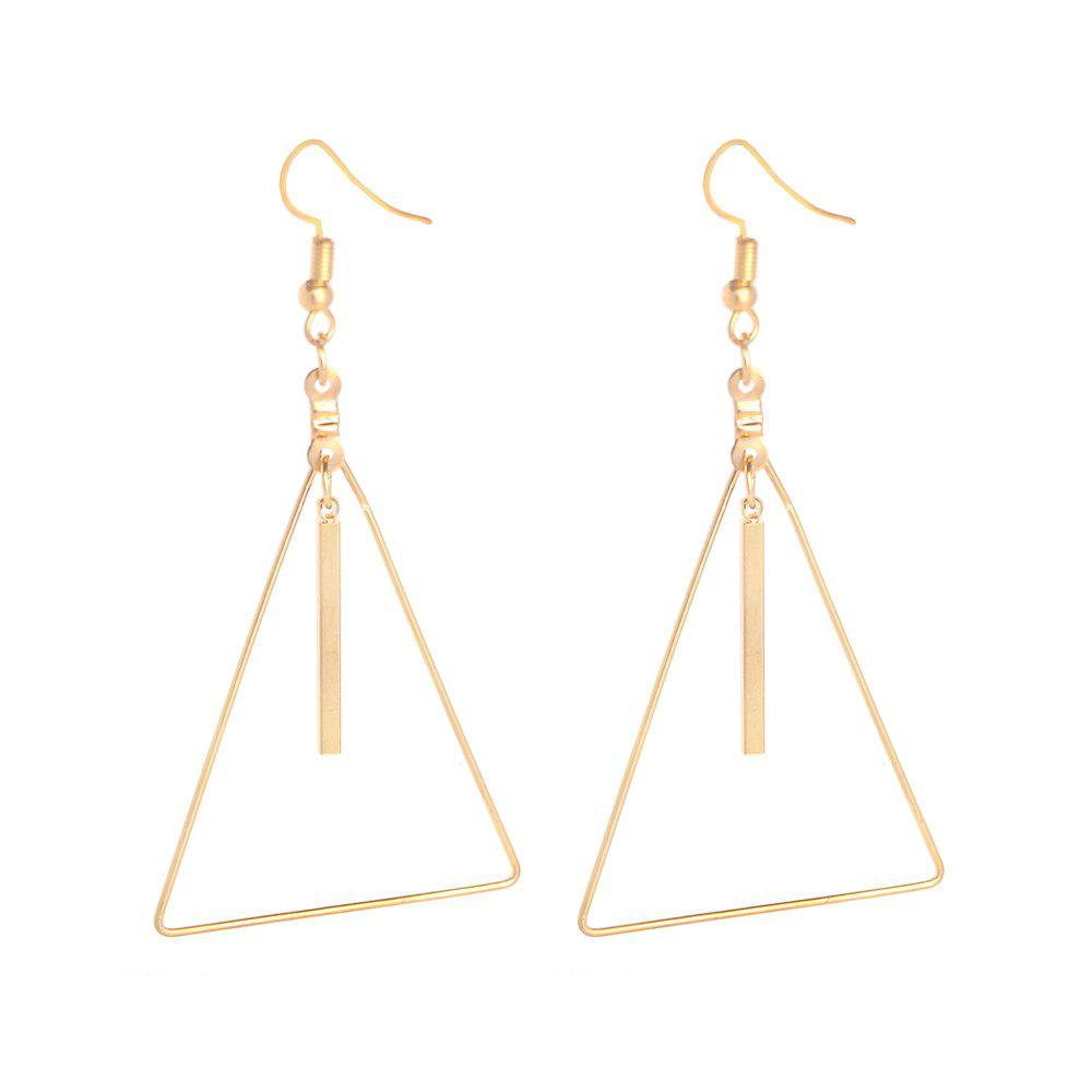 Online Multi Color Hook With Triangular Earrings
