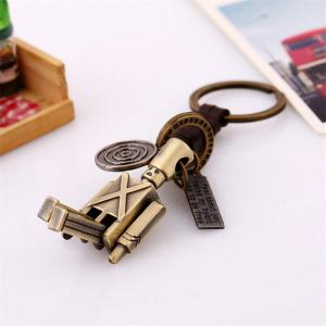 Hand-knitted Leather Movable Alloy Keychain -