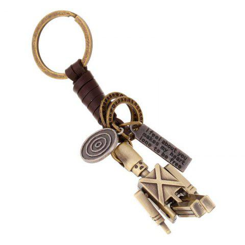 Buy Hand-knitted Leather Movable Alloy Keychain