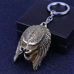 European and American Personality Creative Alien Warrior Mask Keychain -