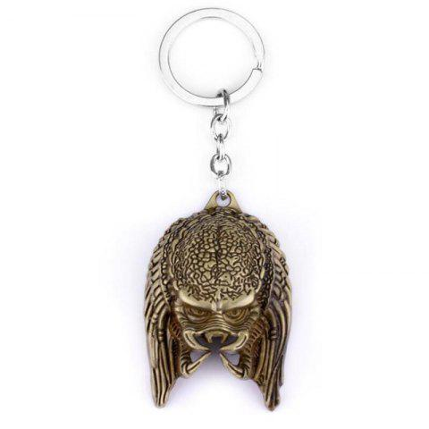 Shop European and American Personality Creative Alien Warrior Mask Keychain