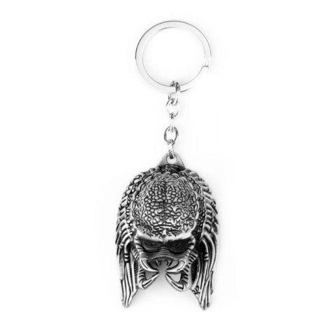Latest European and American Personality Creative Alien Warrior Mask Keychain
