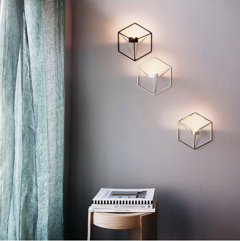 Online 3D Geometric Candlestick Metal Wall Candle Holder for Home Decorations Weddings