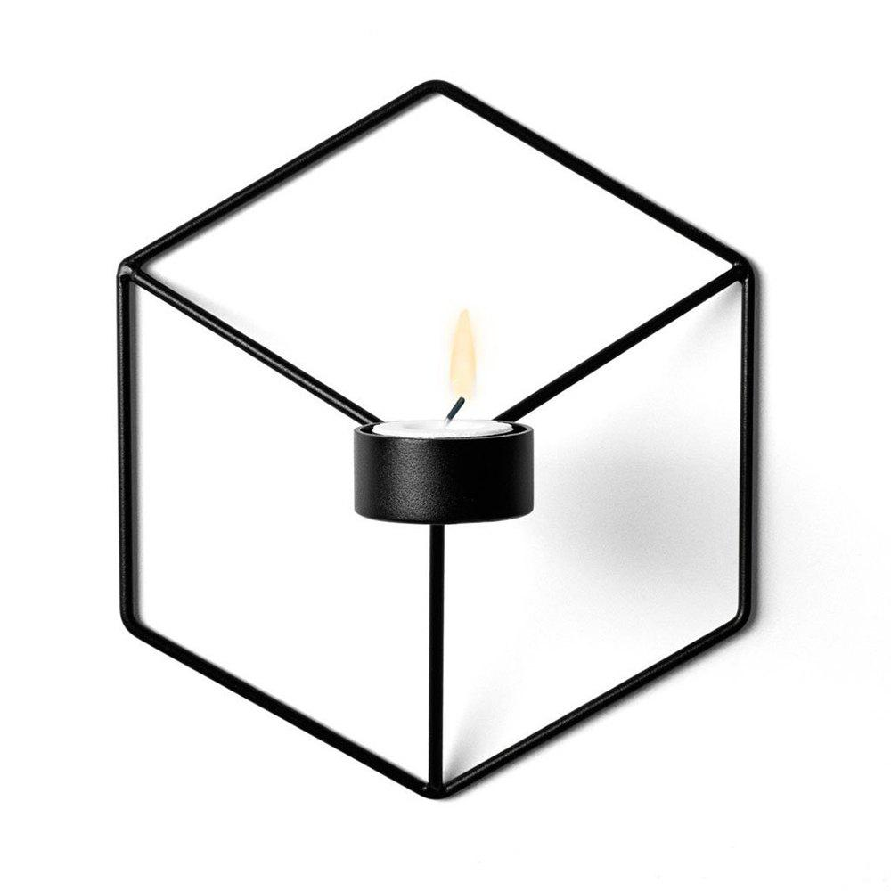 Shops 3D Geometric Candlestick Metal Wall Candle Holder for Home Decorations Weddings