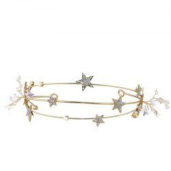 Bride Accessory Golden Star Hair Band -