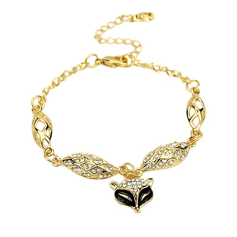 Chic Delicate Fox Pendant Drill Chain Bracelet