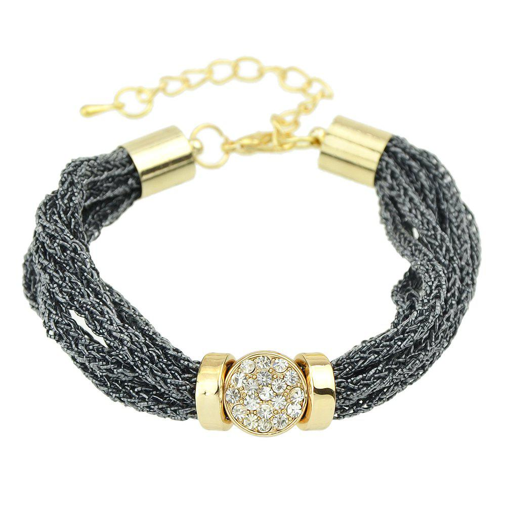 Latest Runk Designer Multilayer Chain Rhinestone Bracelet