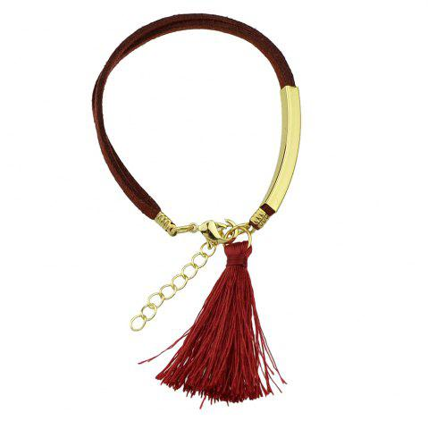 Hot Colorful PU Leather Bracelets with Tassel Charm