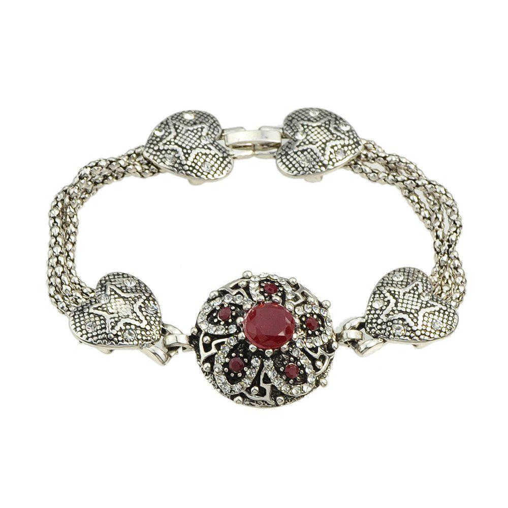 Buy Colorful Rhinestone Flower Charm Bracelets Designer Jewelry