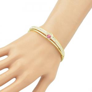 Style ouvert or couleur strass ouvert bracelet -