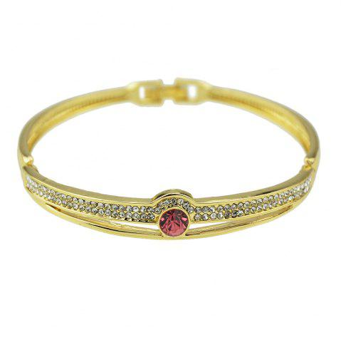 Style ouvert or couleur strass ouvert bracelet