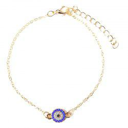 Fashionable Simple and Popular Insert Diamond Geometric Anklet -