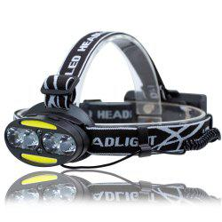 UltraFire UF-2504A T6 + COB + LED 8 Light 3000LM 7 Speed ​​Strong Head Light -