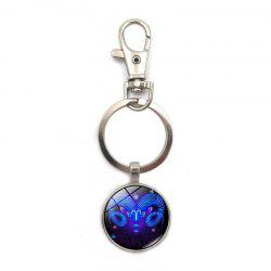 European and American Personality Creative Constellation Pendant Keychain -