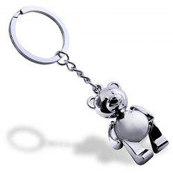 Personality Creative Metal Movable Bear Keychain -