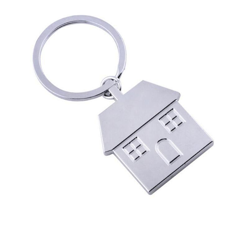 Fancy Personalized Metal Keychain Creative House Pendant