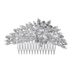 Luxurious High-end Flower Rhinestone Comb -