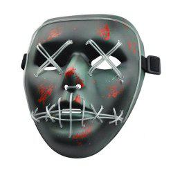 Halloween Mask LED Glow Scary Wire Light Up Grin Festival Parties -
