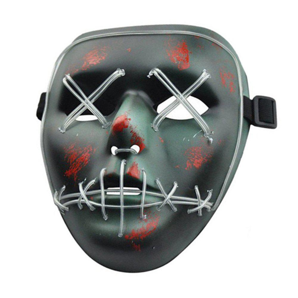 Unique Halloween Mask LED Glow Scary Wire Light Up Grin Festival Parties