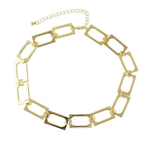 Buy Gold-color Choker Individual Rectangular Splice Necklace