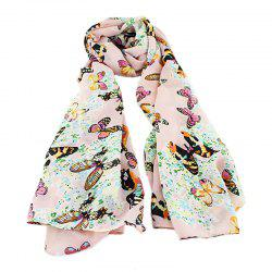 Chiffon Butterfly Print Decoration Scarves -