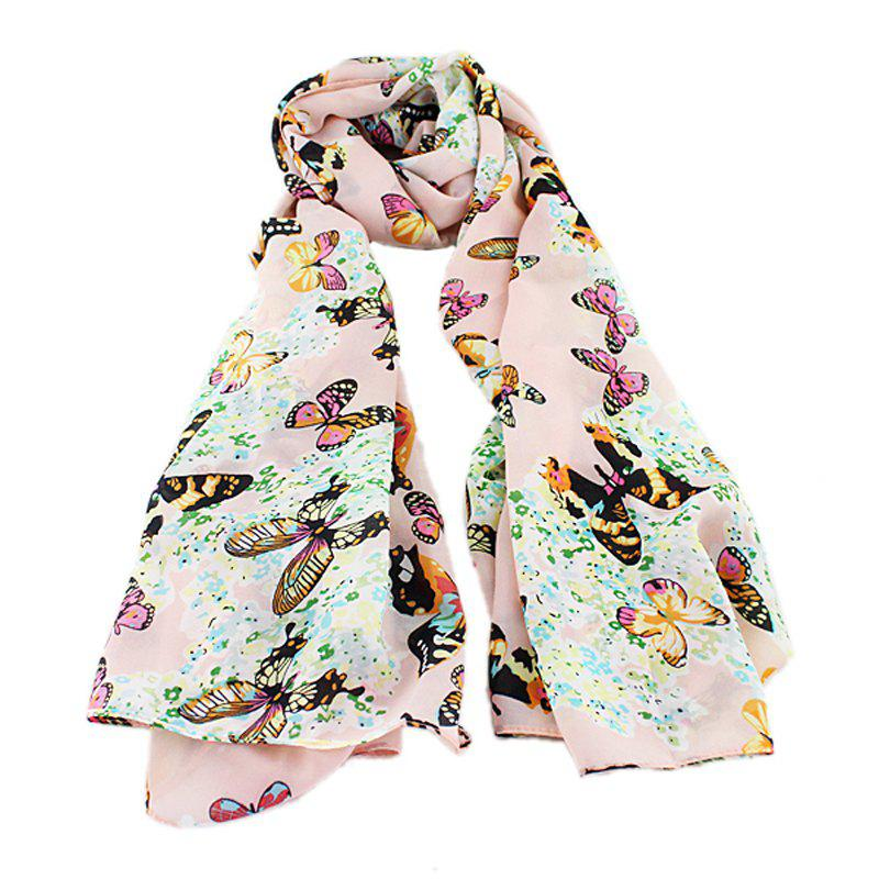 Fashion Chiffon Butterfly Print Decoration Scarves
