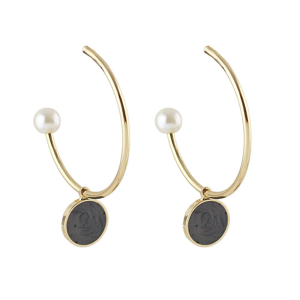 Latest Simulated-pearl Big Cuff Hoop Earrings for Women