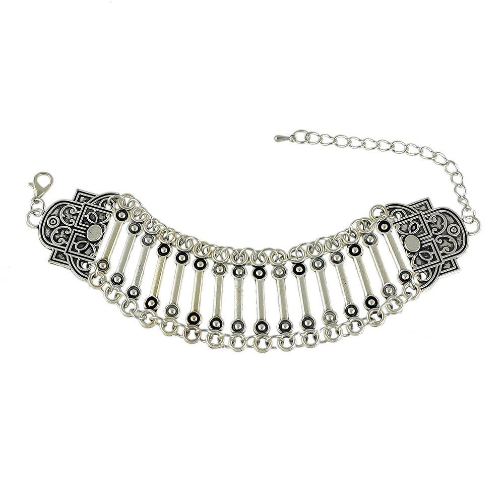 Affordable Fashion Bohemia Silver Color Alloy Bracelet