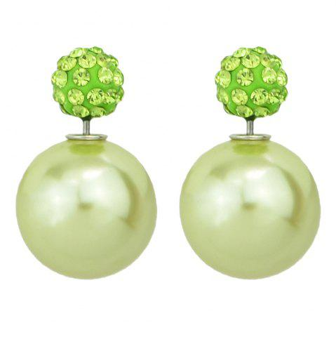 Outfit Candy Color Double Sided Simulated-pearl Small Earrings