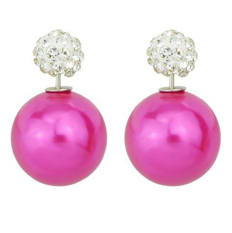 Online Candy Color Double Sided Simulated-pearl Small Earrings