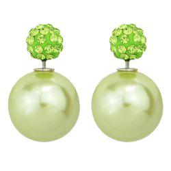 Candy Color Double Sided Simulated-pearl Small Earrings -