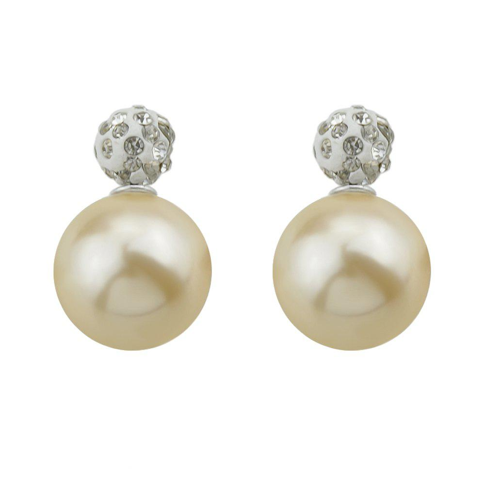 Sale Candy Color Double Sided Simulated-pearl Small Earrings