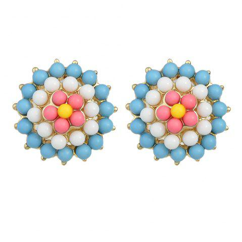 Affordable Fashion Color Bead Cute Flower Earrings Women Ornament