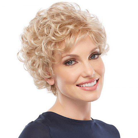 Trendy Light Golden Small Wave Afros Wig