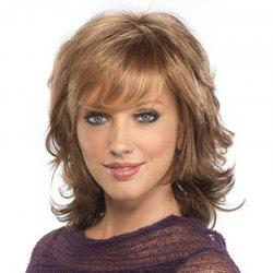 Gold Small Wave Sexy Elegant Medium Short Wig -