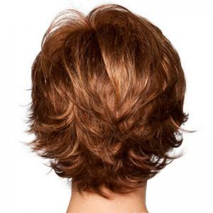 Gold Short Straight Bang Wig -