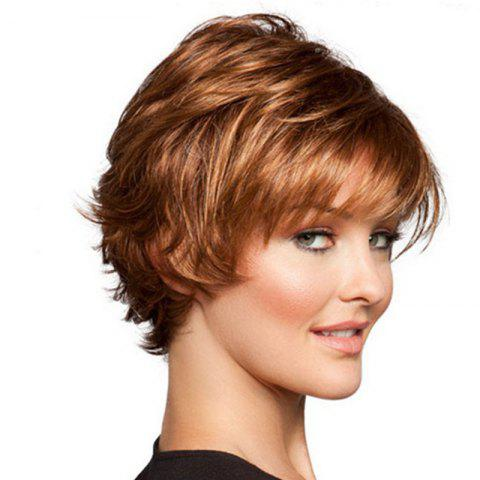 Chic Gold Short Straight Bang Wig