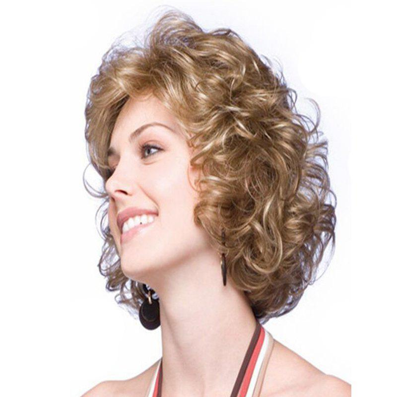 Latest Brown Fluffy Little Curly Short Wig