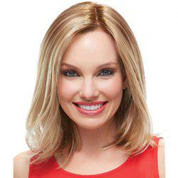 Partial Distribution Type Gradient Ramp Straight Medium Short Wig -