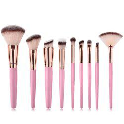 Branches Pink Rose Purple Tube haut de gamme Make Up Brush 9pcs -