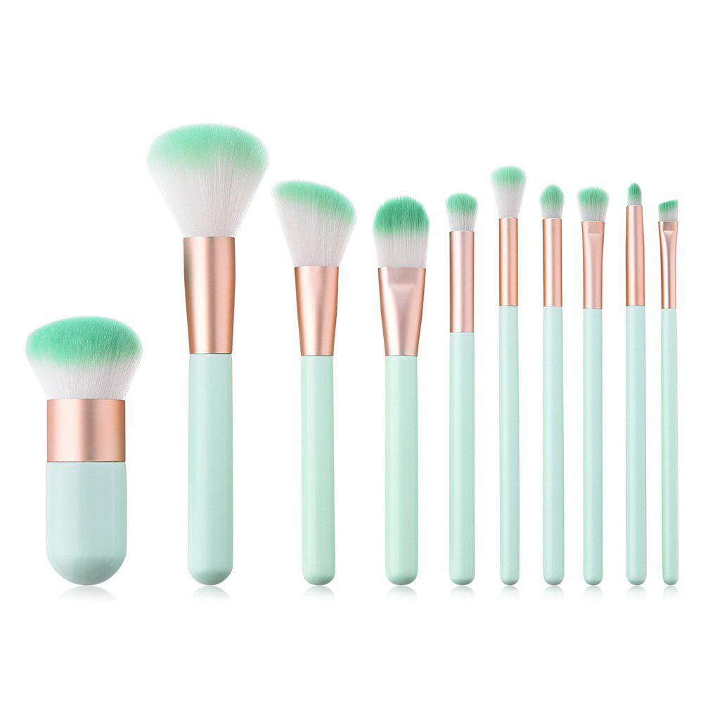 Hot Branches Wooden Handle Mint Green Make Up Brush 10pcs