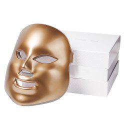 7 Colors LED Golden Mask Facial Skin Rejuvenation Therapy Face Care -