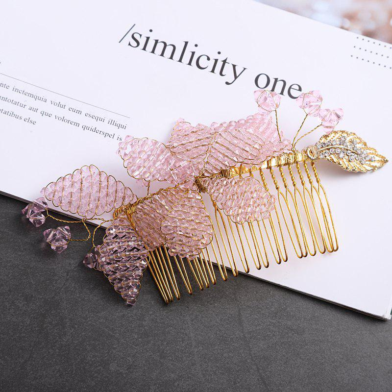 Store Hand Drill Silk Flower Headdress Alloy Hair Comb