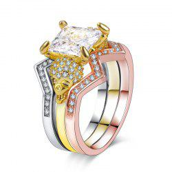 Woman Crystal Zircon Fashion Jewelry Punk Skull Rings -