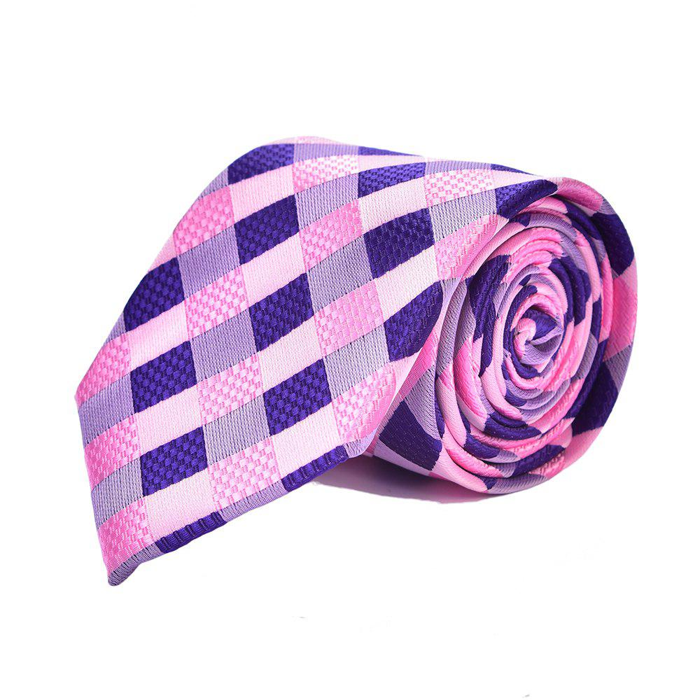 Mode Hommes Mariage Fête Cravate Fine Exquise Plaid Design Business Tie